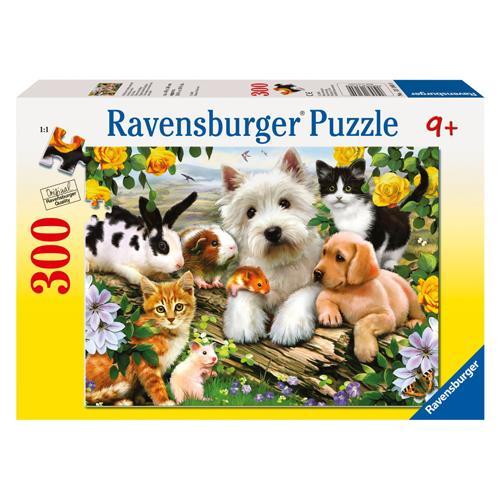Puzzle Animale Prietenoase - 300 Piese - Jocuri pentru copii - Jocuri cu puzzle