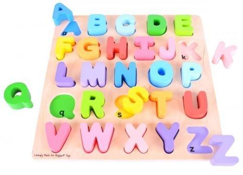 Puzzle colorat - alfabet - Jocuri pentru copii - Jocuri cu puzzle