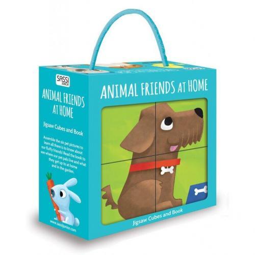 Puzzle cubic - Animalute de companie - Jocuri pentru copii - Jocuri cu puzzle