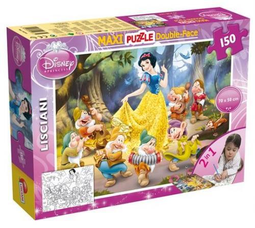 Puzzle de colorat maxi - Alba ca Zapada (150 piese) - Jocuri pentru copii - Jocuri cu puzzle