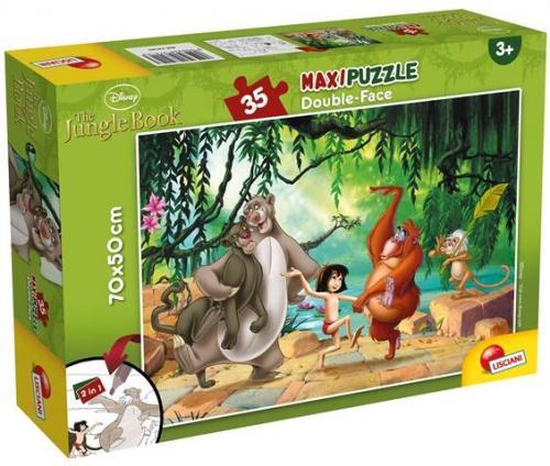Puzzle de colorat maxi - Cartea Junglei (35 piese) - Jocuri pentru copii - Jocuri cu puzzle