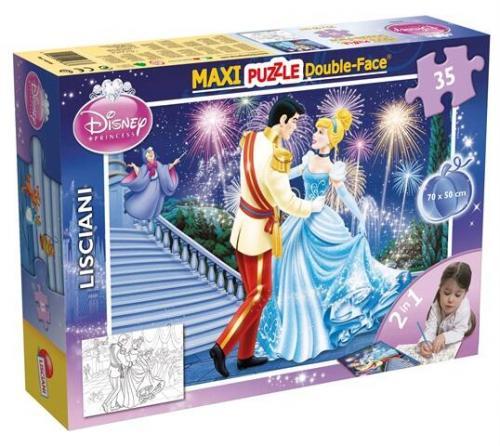 Puzzle de colorat maxi - Cenusareasa la bal (35 piese) - Jocuri pentru copii - Jocuri cu puzzle