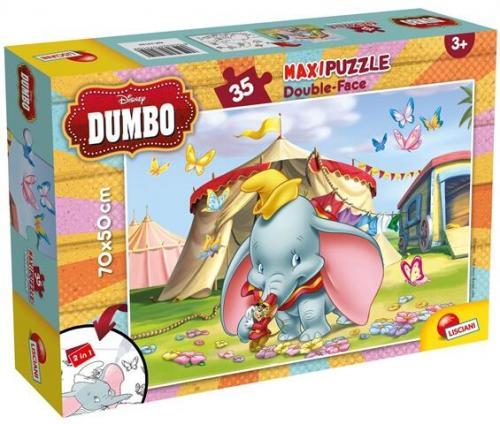 Puzzle de colorat maxi - Dumbo (35 piese) - Jocuri pentru copii - Jocuri cu puzzle