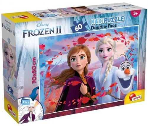 Puzzle de colorat maxi - Elsa - Anna si Olaf (60 piese) - Jocuri pentru copii - Jocuri cu puzzle