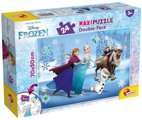 Puzzle de colorat maxi - Frozen la patinoar (24 piese) - Jocuri pentru copii - Jocuri cu puzzle