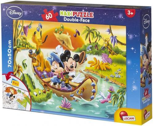 Puzzle de colorat maxi - Mickey Mouse in jungla (60 piese) - Jocuri pentru copii - Jocuri cu puzzle