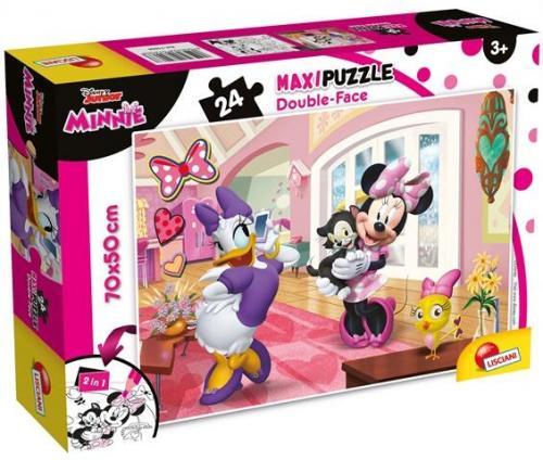 Puzzle de colorat maxi - Minnie in vizita (24 piese) - Jocuri pentru copii - Jocuri cu puzzle