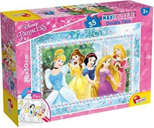 Puzzle de colorat maxi - Printese minunate (35 piese) - Jocuri pentru copii - Jocuri cu puzzle