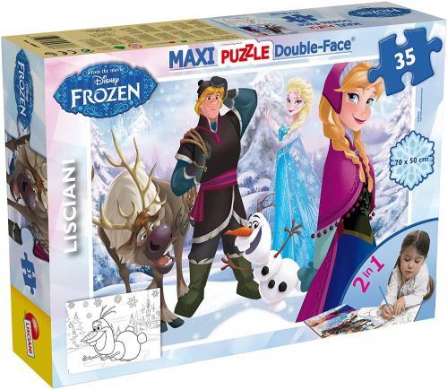 Puzzle de colorat maxi - Regatul de gheata (35 piese) - Jocuri pentru copii - Jocuri cu puzzle