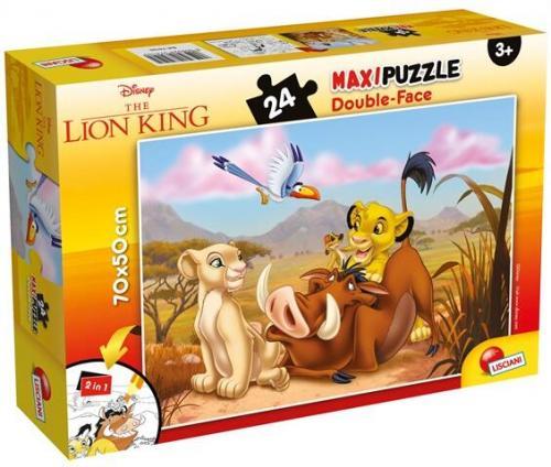 Puzzle de colorat maxi - Regele leu (24 piese) - Jocuri pentru copii - Jocuri cu puzzle