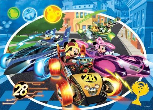 Puzzle de colorat - Mickey in cursa (24 piese) - Jocuri pentru copii - Jocuri cu puzzle