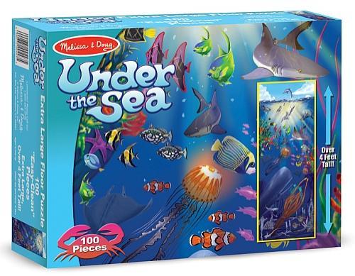 Puzzle De Podea In Adancurile Oceanului Melissa And Doug - Jucarii copilasi - Jucarii educative bebe
