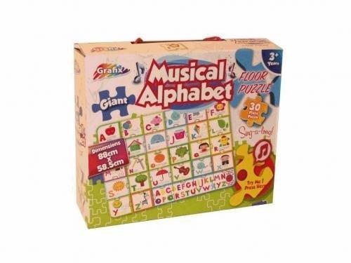 Puzzle de podea muzical - Alfabetul vesel - Jocuri pentru copii - Jocuri cu puzzle