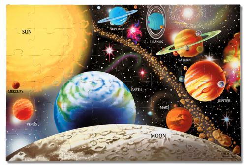Puzzle De Podea Sistemul Solar Melissa And Doug - Jucarii copilasi - Jucarii educative bebe