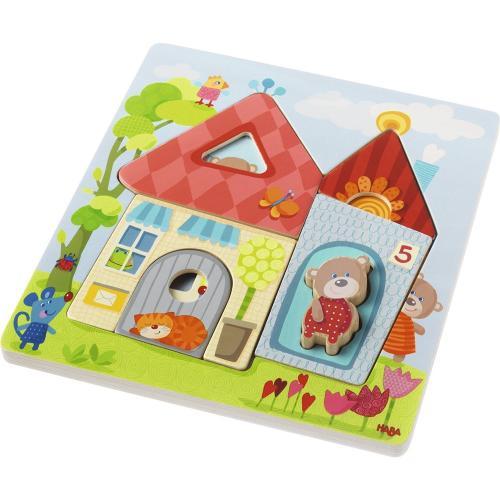 Puzzle Din Lemn - Casa Ursului din Padure - Jocuri pentru copii - Jocuri cu puzzle