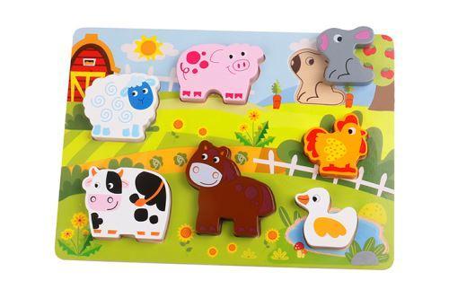 Puzzle din lemn - Jocuri pentru copii - Jocuri cu puzzle