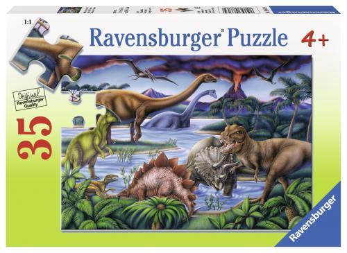Puzzle dinozauri - 35 piese - Jocuri pentru copii - Jocuri cu puzzle