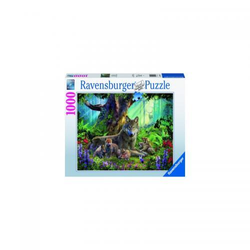 Puzzle Familie Lupi - 1000 Piese - Jocuri pentru copii - Jocuri cu puzzle