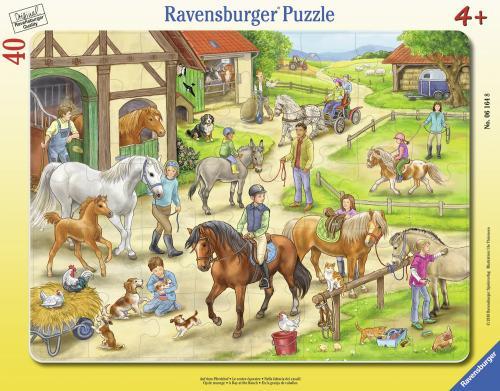 Puzzle Ferma Tip Rama - 40 Piese - Jocuri pentru copii - Jocuri cu puzzle