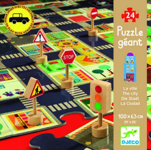 Puzzle gigant djeco orasul - Jocuri pentru copii - Jocuri cu puzzle