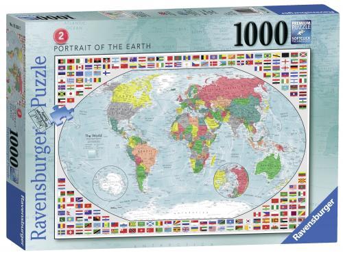 Puzzle Harta Politica A Lumii 2 - 1000 Piese - Jocuri pentru copii - Jocuri cu puzzle