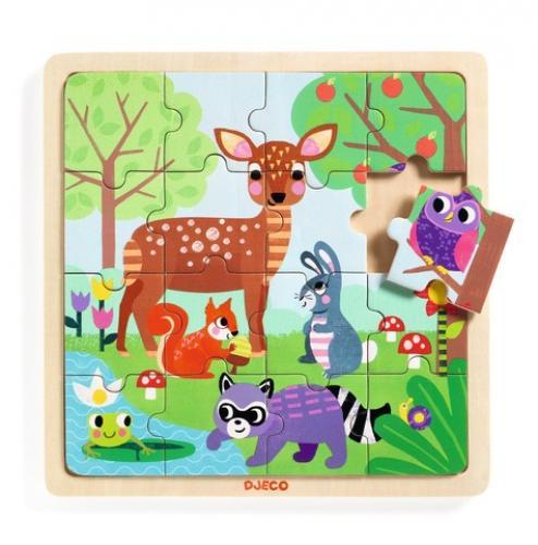 Puzzle lemn forest djeco - Jocuri pentru copii - Jocuri cu puzzle