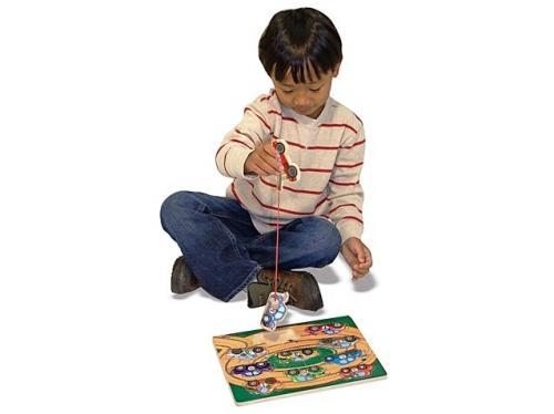 Puzzle Lemn Magnetic Remorcherul Melissa And Doug - Jocuri pentru copii - Jocuri magnetice