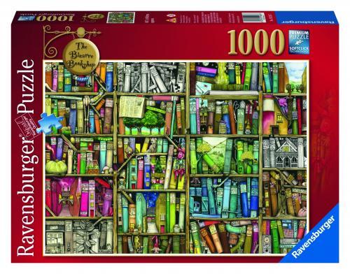 Puzzle Libraria Bizara - 1000 Piese - Jocuri pentru copii - Jocuri cu puzzle