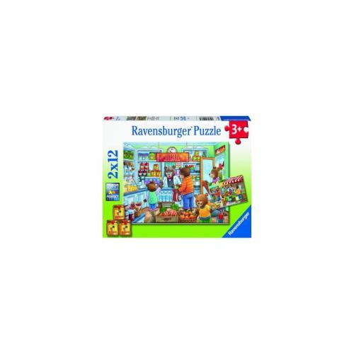 PUZZLE MAGAZIN ALIMENTAR - 2x12 PIESE - Jocuri pentru copii - Jocuri cu puzzle