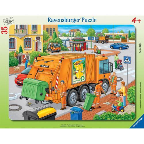 Puzzle Masina De Colectat Gunoi - 35 Piese - Jocuri pentru copii - Jocuri cu puzzle