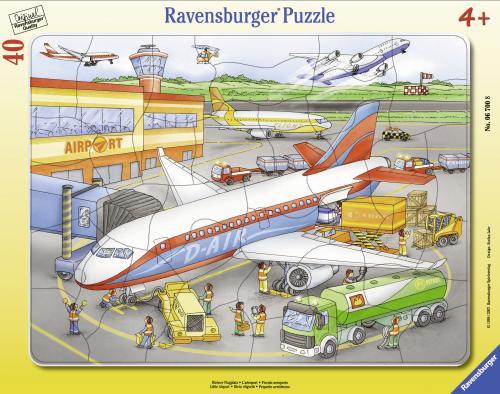 Puzzle mic aeroport - 40 piese - Jocuri pentru copii - Jocuri cu puzzle