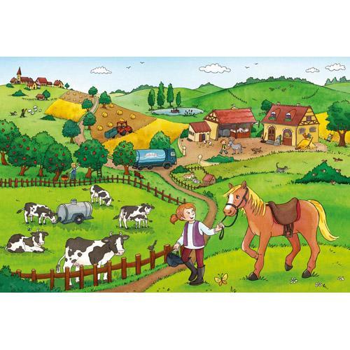 PUZZLE MUNCA LA FERMA - 2x12 PIESE - Jocuri pentru copii - Jocuri cu puzzle