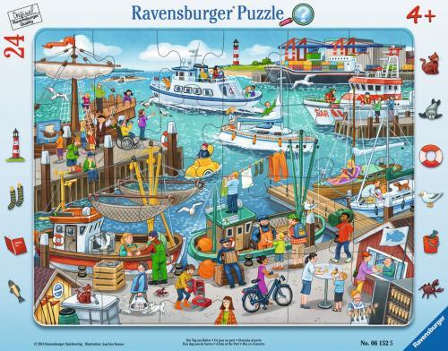 Puzzle o zi in port - 24 piese - Jocuri pentru copii - Jocuri cu puzzle