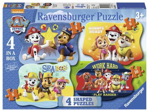 Puzzle Paw Patrol - 4/6/8/10 Piese - Jocuri pentru copii - Jocuri cu puzzle