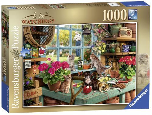 Puzzle Pisicute Pe Masa - 1000 Piese - Jocuri pentru copii - Jocuri cu puzzle