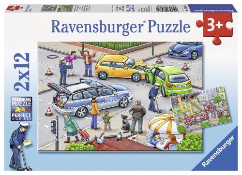 Puzzle politie - 2x12 piese - Jocuri pentru copii - Jocuri cu puzzle
