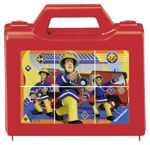 Puzzle Pompier Sam Cuburi - 6 Piese - Jocuri pentru copii - Jocuri cu puzzle