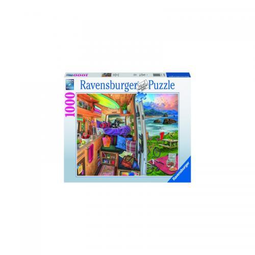 Puzzle Priveliste Din Rulota - 1000 Piese - Jocuri pentru copii - Jocuri cu puzzle