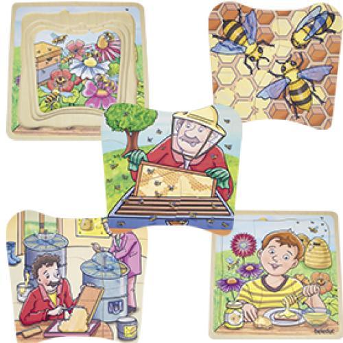 Puzzle Stratificat Mierea De Albine - Jucarii copilasi - Jucarii educative bebe