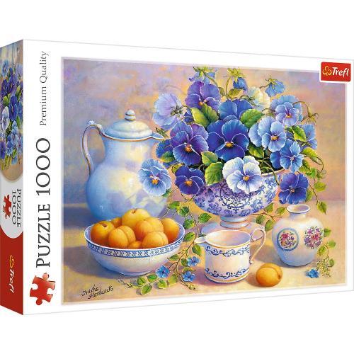 Puzzle trefl 1000 buchet albastru - Jocuri pentru copii - Jocuri cu puzzle
