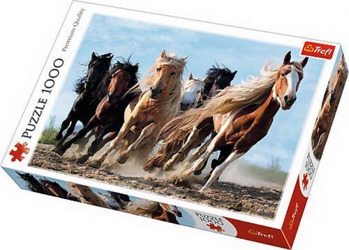 Puzzle trefl 1000 cai la galop - Jocuri pentru copii - Jocuri cu puzzle