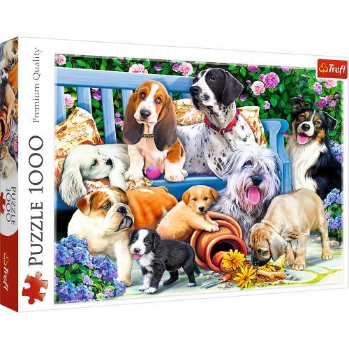 Puzzle trefl 1000 caini in gradina - Jocuri pentru copii - Jocuri cu puzzle