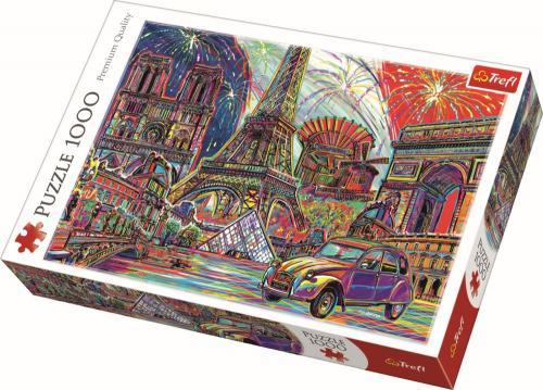 Puzzle trefl 1000 culorile parisului - Jocuri pentru copii - Jocuri cu puzzle