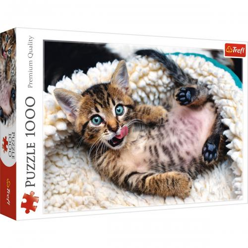 Puzzle trefl 1000 pisicuta vesela - Jocuri pentru copii - Jocuri cu puzzle