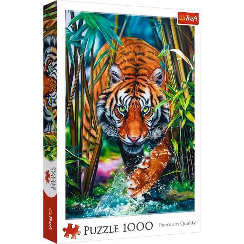 Puzzle trefl 1000 tigru - Jocuri pentru copii - Jocuri cu puzzle