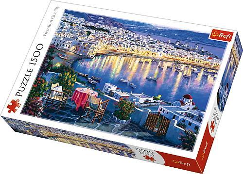 Puzzle trefl 1500 apus in myconos - Jocuri pentru copii - Jocuri cu puzzle