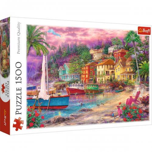 Puzzle trefl 1500 apus pe coasta - Jocuri pentru copii - Jocuri cu puzzle