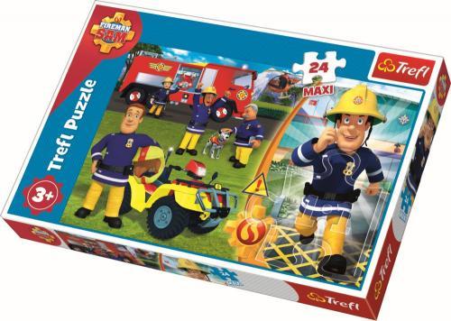 Puzzle trefl 24 maxi bravul pompier sam - Jocuri pentru copii - Jocuri cu puzzle