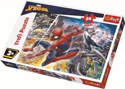 Puzzle trefl 24 maxi curajosul spiderman - Jocuri pentru copii - Jocuri cu puzzle