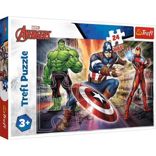 puzzle trefl 24 maxi eroi avengers - Jocuri pentru copii - Jocuri cu puzzle